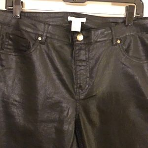 H&M Skinny Faux Leather Pants